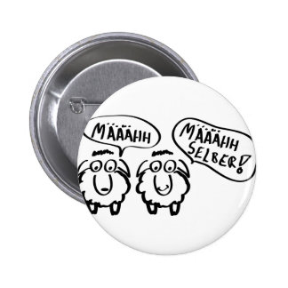 sheep schafe määähhh määhhh selber ! 6 cm round badge