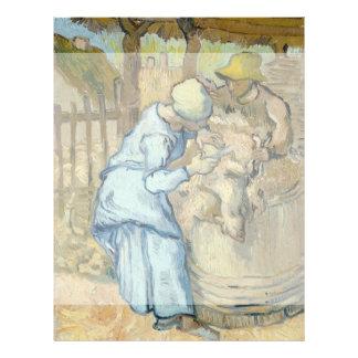Sheep Shearer after Millet by Vincent Van Gogh Flyers