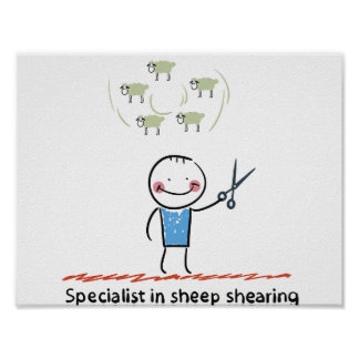 Sheep Shearing Specialist Poster
