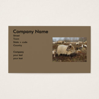 Sheep - Sheep in Heather field Business Card