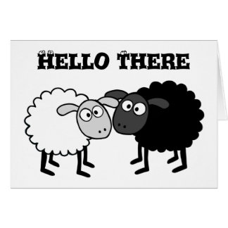 "Sheep Small (4.25"" x 5.5""), Standard Env. included Card"