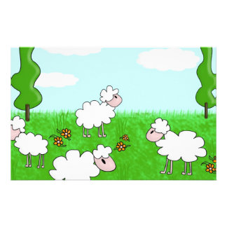 Sheep Stationery Paper