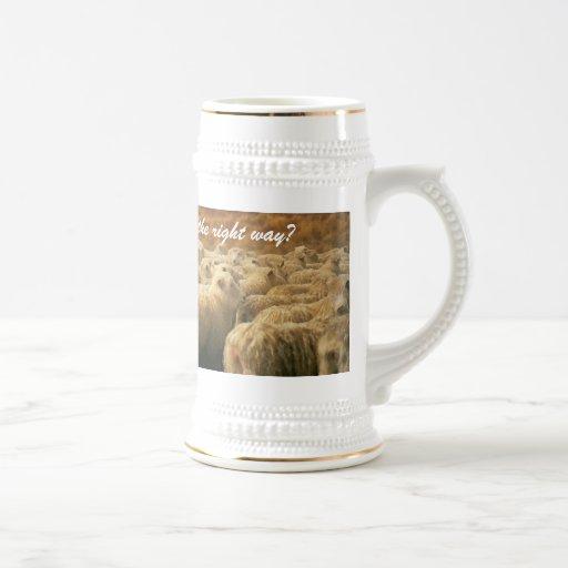 Sheep stein mug