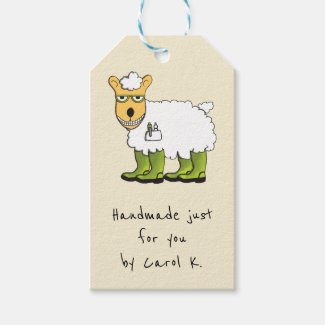 Sheep Themed Knitter's Gift Tags