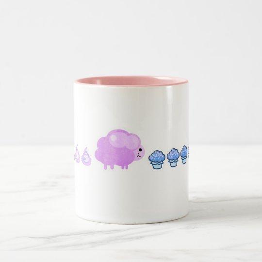sheep Two-Tone coffee mug