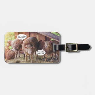 Sheep Want Cake Luggage Tag