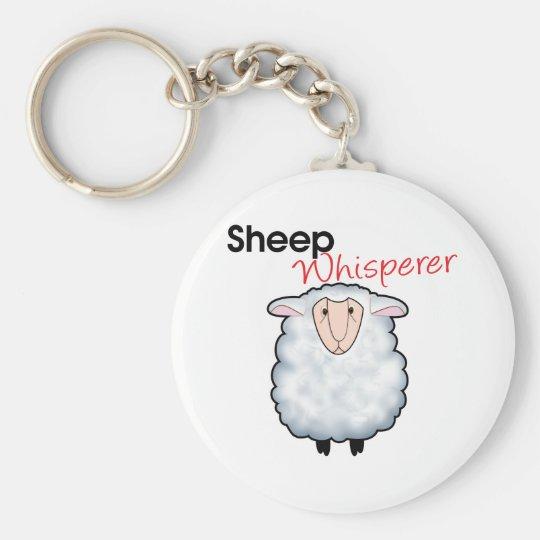 Sheep Whisperer Basic Round Button Key Ring