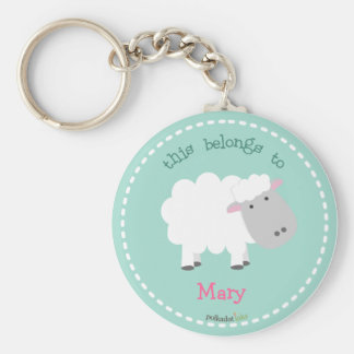 Sheep White Keychain