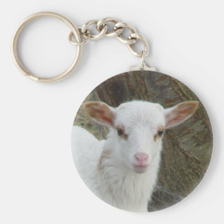 Sheep - White Lamb Key Ring