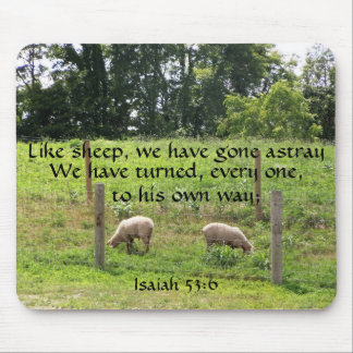 Sheep with Scripture Mousepad