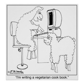 Sheep Write Veggie Cook Book Poster