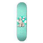 Sheepdog; Aqua Green Chevron Skateboard Deck