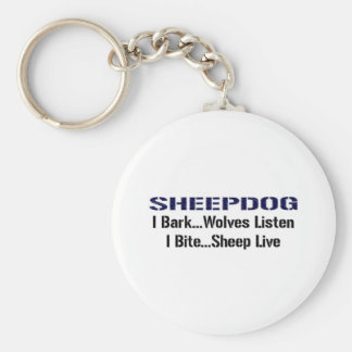 Sheepdog Basic Round Button Key Ring