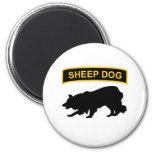 Sheepdog Tab 6 Cm Round Magnet