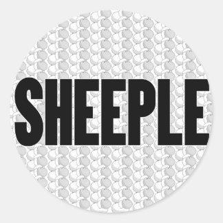 SHEEPLE 2 ROUND STICKER