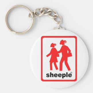 Sheeple Basic Round Button Key Ring