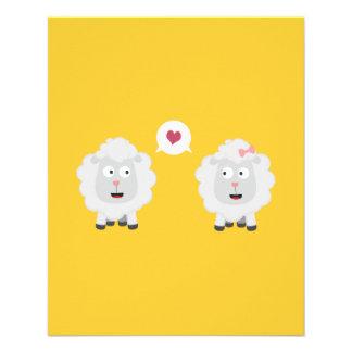 Sheeps in love with heart Z7b4v 11.5 Cm X 14 Cm Flyer
