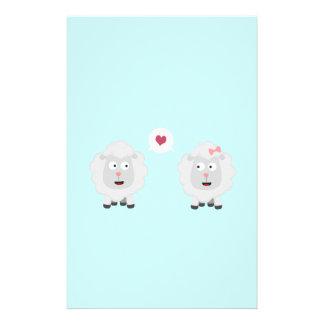 Sheeps in love with heart Z7b4v 14 Cm X 21.5 Cm Flyer
