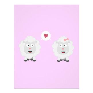 Sheeps in love with heart Z7b4v 21.5 Cm X 28 Cm Flyer