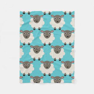 Sheeps seamless pattern fleece blanket