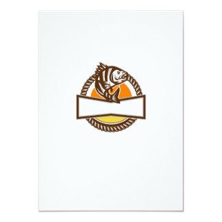 Sheepshead Fish Rope Circle Retro 11 Cm X 16 Cm Invitation Card