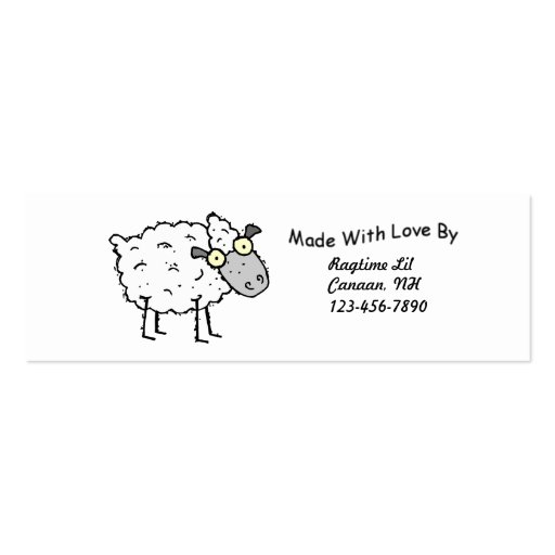 Sheepy Fabric Tags Business Card