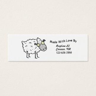 Sheepy Fabric Tags Mini Business Card