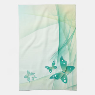 Sheer Green Butterfly Veil American MoJo Kit Kitchen Towels
