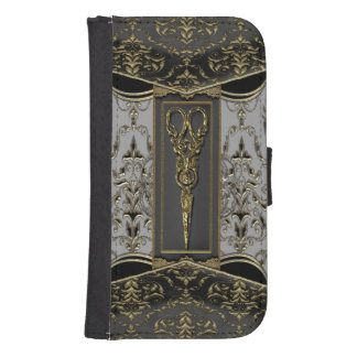 Sheer Hazlehurst Antiqued Scissors 4th Samsung S4 Wallet Case