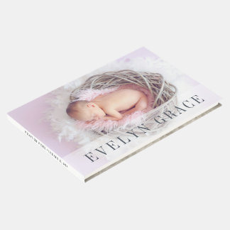 Sheer Overlay | Baby Photo Christening or Baptism Guest Book