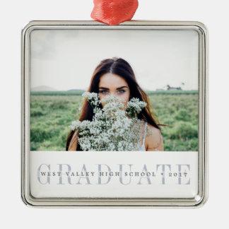 Sheer Stripe | Graduation Photo Christmas Ornament