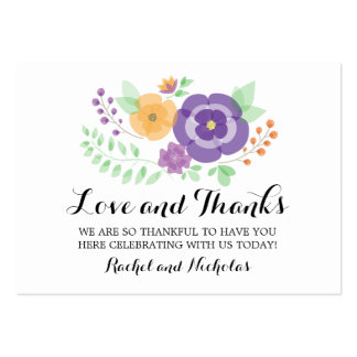 Sheer Summer Flowers | Favor Tag Pack Of Chubby Business Cards