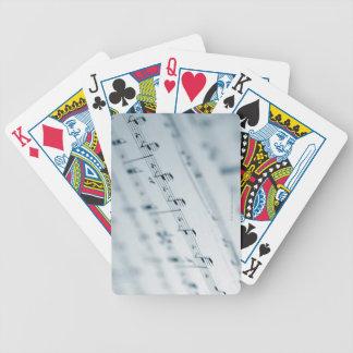 Sheet Music 10 Bicycle Playing Cards