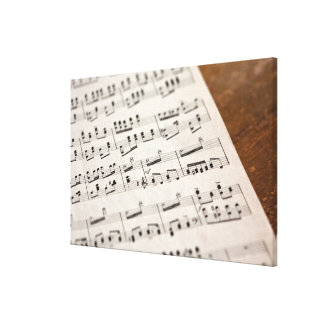 Sheet Music 10 Stretched Canvas Print