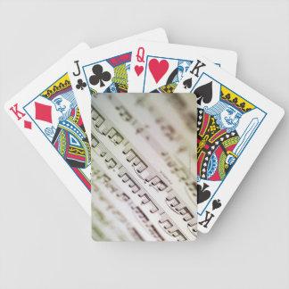 Sheet Music 11 Bicycle Playing Cards