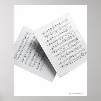 Sheet Music 12 Poster