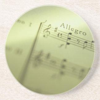 Sheet Music 1 Sandstone Coaster