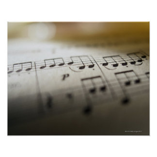 Sheet Music 4 Poster