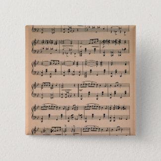 Sheet Music 6 15 Cm Square Badge