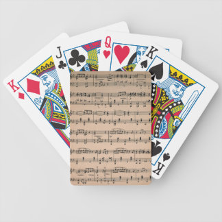Sheet Music 6 Bicycle Playing Cards