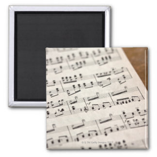 Sheet Music 7 Square Magnet