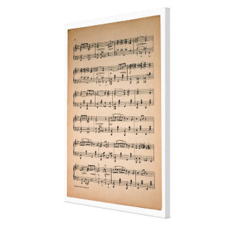 Sheet Music 7 Stretched Canvas Print