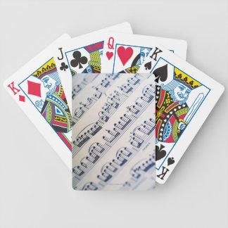 Sheet Music 8 Bicycle Playing Cards