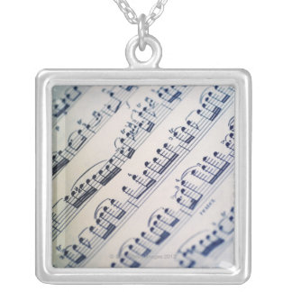 Sheet Music 8 Silver Plated Necklace