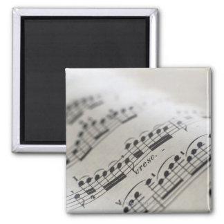Sheet Music 9 Square Magnet