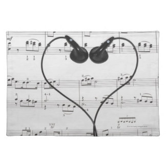 Sheet Music and Headphones Placemat