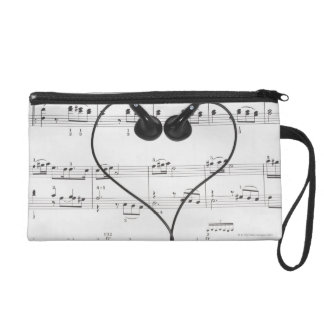 Sheet Music and Headphones Wristlet