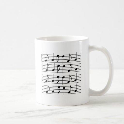 Sheet Music Basic White Mug