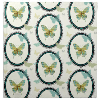 Sheet Music Butterfly CLOTH NAPKINS