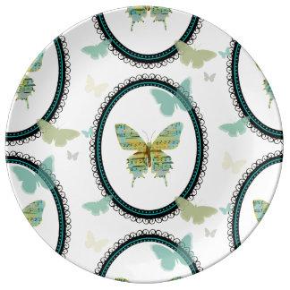 Sheet Music Butterfly PLATE